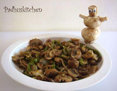 Padhuskitchen: Mushroom Fry-Mushroom Pepper Fry-How to make Mushr...