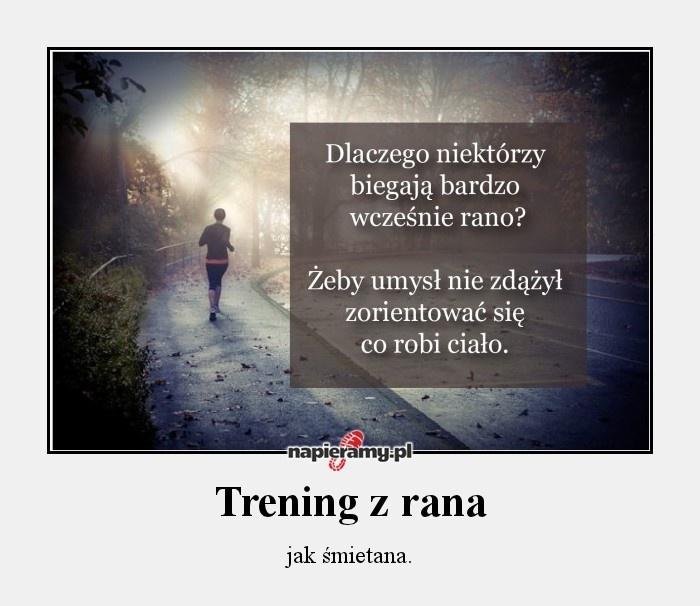 Trening z rana jak śmietana! #trening #bieganie #motywacja