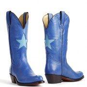 Tony Mora laarzen 2135 Savoy azuur blauw met ster