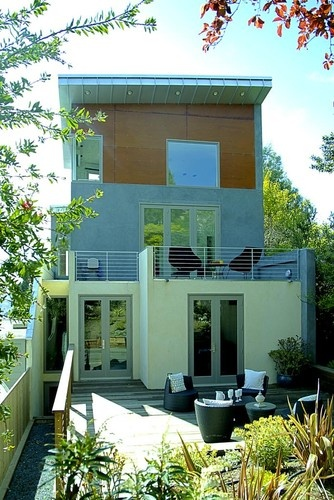 Duplex fourplex plans a collection of ideas to try about for Townhouse modern design exterior