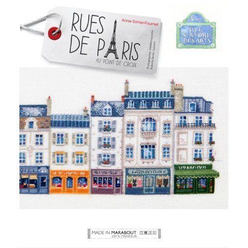 Rues de Paris au point de croix: Anne Sohier - Fournel: 9782501078818: Amazon.com: Books