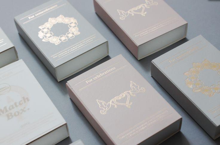 OIMU #matchbox, print with #goldfoil