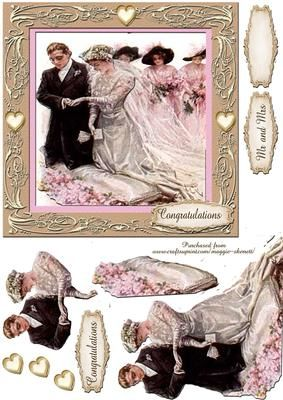 Beautiful Brides Series 4 Card Front  on Craftsuprint - Add To Basket!