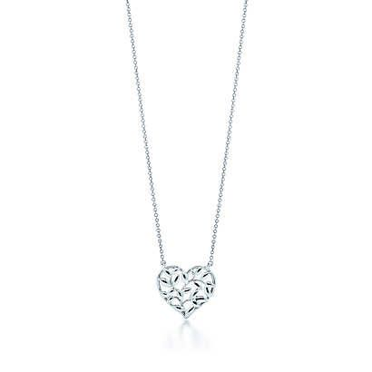 Tiffany & Co. - Paloma Picasso® Olive Leaf heart pendant in sterling silver. on Wanelo