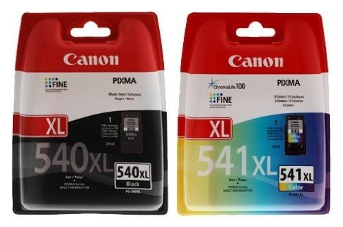 Canon PG-540XL & CL-541XL High Capacity Ink Cartridge Pack - The genuine high capacity black Canon PG-540XL and CL-541XL ink cartridges allow you to make great savings without experiencing any drop in print quality. This high capacity printer cartridge contains pigment ink for crisp, durable prints that are long-lasting and designed to print eye-catching... - http://ink-cartridges-ireland.com/canon-pg-540xl-cl-541xl-high-capacity-ink-cartridge-pack/ - (High, Canon, Capacity),