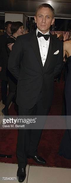 Actor Daniel Craig arrives at the World premiere of the new James Bond film 'Casino Royale' held at Odeon Leicester Square on November 14 2006 in...
