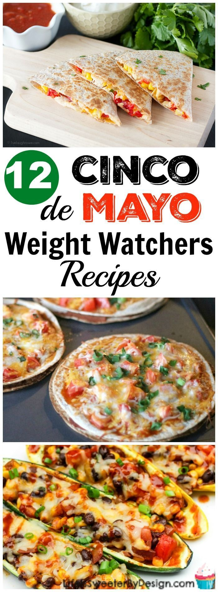 Weight Watchers Cinco de Mayo recipes will make your party amazing! These Cinco de Mayo recipes are delicious and have low SmartPoints too. Stay on plan and don't feel deprived!  #weightwatchers #weightwatchersrecipes #freestyle
