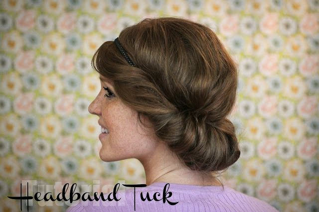 The Freckled Fox : Hair Tutorial: the Easy Headband Tuck. Self, find your stretchy headbands now.