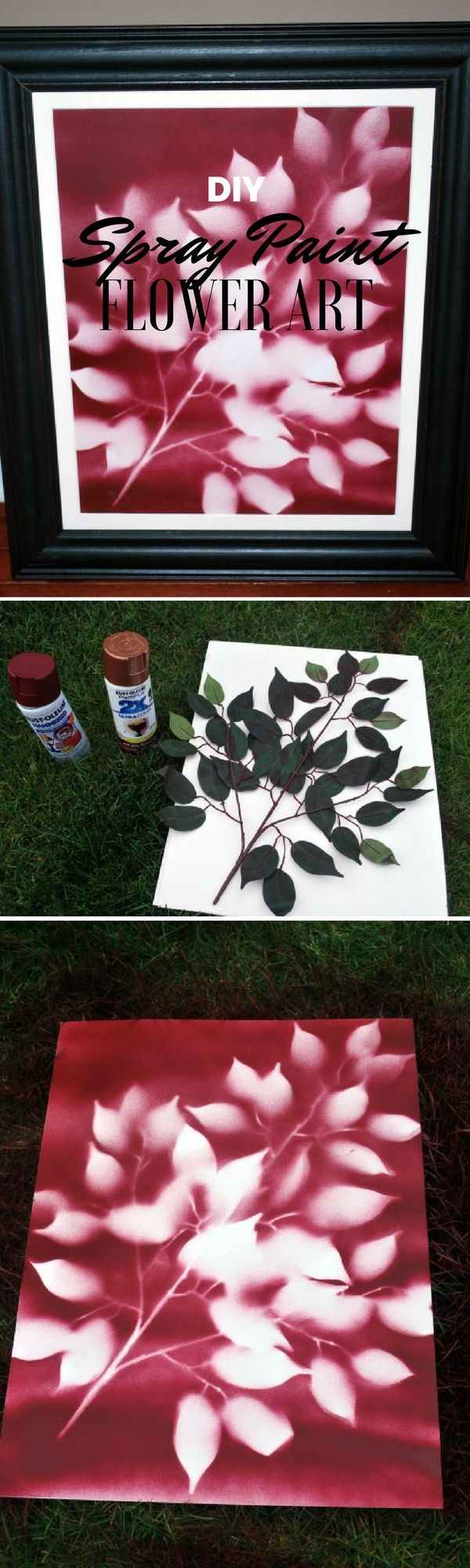 Check out the tutorial: #DIY Spray Paint Flower Art @istandarddesign