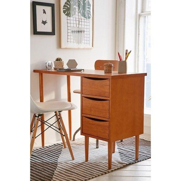 Lars Desk (550 AUD) ❤ liked on Polyvore featuring home, furniture, desks, brown, brown desk, rubberwood furniture, urban outfitters, brown furniture and urban outfitters furniture