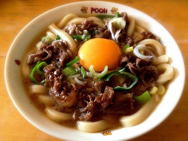 生卵のせ! - 6件のもぐもぐ - 肉うどん by izumiho