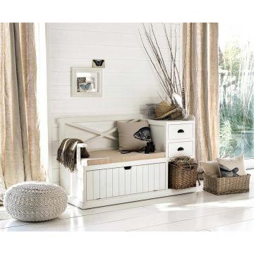Garderobenmöbel aus holz weiß b135 shop landhaus look