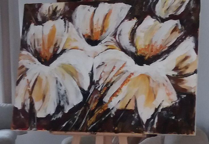 virágok..70x100cm vászon, akril festmény