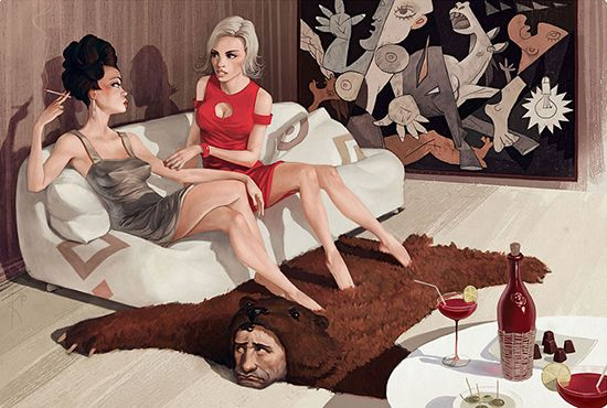 Ilustrasi Kontroversial yang Mencela Kehidupan Modern 1