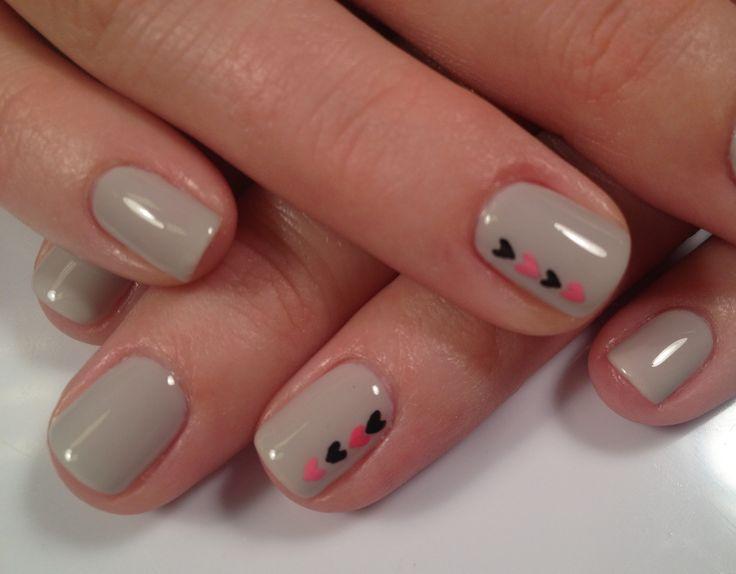 Shellac nails #nailart #heartnails #beauty