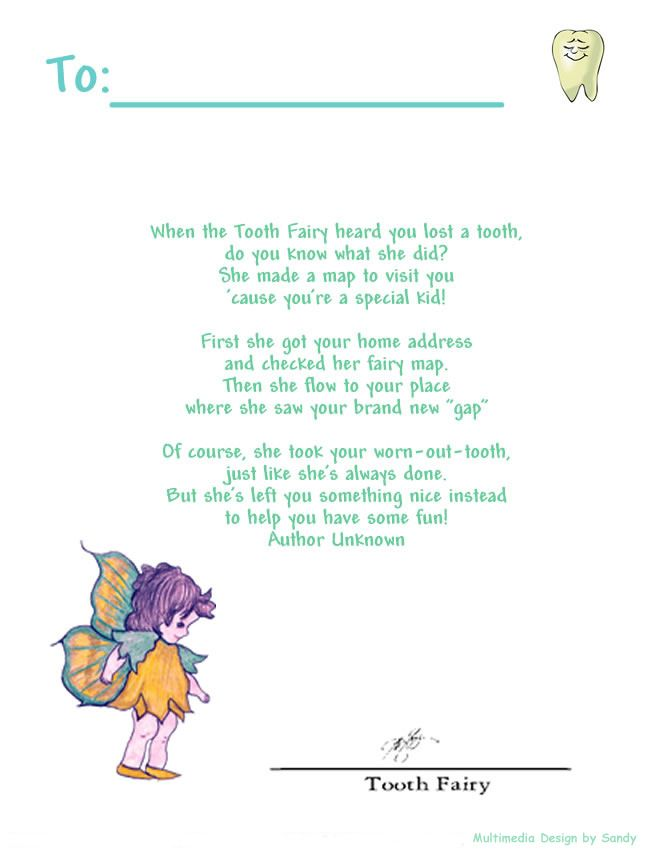 11 best Tooth Fairy Letters images on Pinterest Tooth fairy