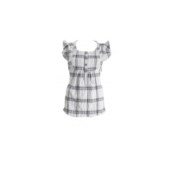 Check tie back top at oasis-stores.com ❤ liked on Polyvore featuring tops, blusas, camisas, casual tops, checkered top and tie back top