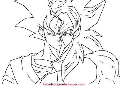 Goku Fase 4 Para Colorear Dibujo De Goku Dibujos Y Goku Super