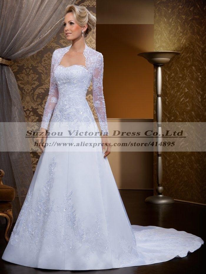 Vestido де Noiva манга лонга 2015 с длинным рукавом свадебное платье в стиле кантри свадебные платья свадебные платья Noiva эм ренда