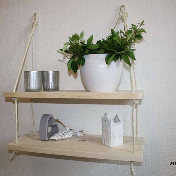 Opzoek naar iets anders dan plankjes aan de muur? Misschien is dit dan iets voor jou: hanging shelves. Bijzonder, net even anders, open.. Te verkrijgen bij www.MDdesigns.nl