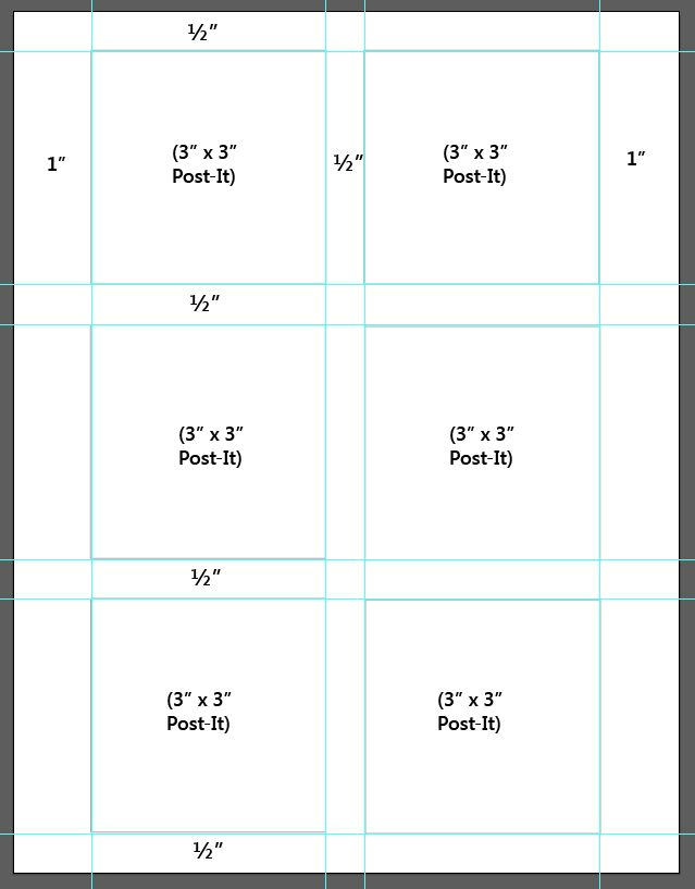 DIY Secret: How to Print on Post-It Notes (and Free Printable Template) -- Tatertots and Jello