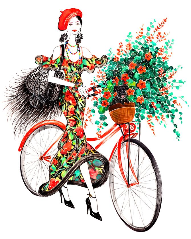 Bike Girl, outfit inspired by Ralph Lauren Spring 2013 RTW # Lifestyle Series #Sunny Gu