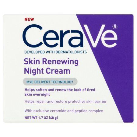 CeraVe Skin Renewing Night Cream, 1.7 oz, Multicolor