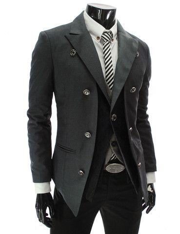 Men's Double Layer 1 Button Blazer | for men 2