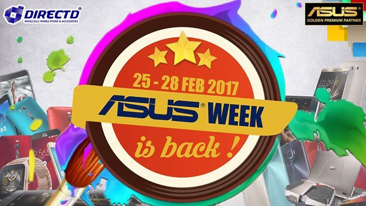 Asus Week is back from 25 to FEB 2017!  WITH every purchase of ASUS products above RM500, you are entitled to a FREE HOTEL VOUCHER, 3D2N for 2 people with more than 40 hotels to choose from nationwide(worth RM500)  Venue: DirectD's Asus Authorised Concept Store Subang Jaya & DirectD Gadget Mega Store(PJ)  DirectD is Asus Golden Premium Partner & Asus Authorised Concept Store!  Online purchase 👉 http://www.directd.com.my/asus-week-2  Or simply walk in to our store:  DirectD Gadget Mega Store…