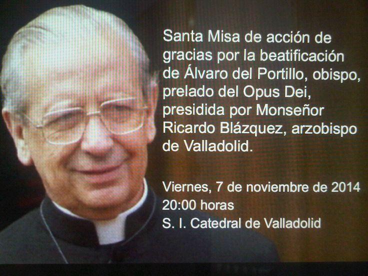 Misa de acción de gracias por la beatificación de Mons Álvaro del Portillo el pasado 27 de septiembre, en Madrid.