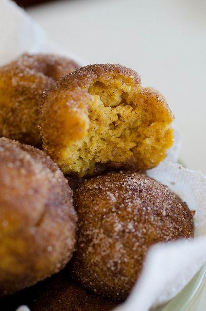 Baked Pumpkin Donut Holes by Pennies on a Platter