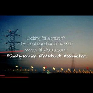 Looking for a church in South Africa - Check out Church Index -  www.fiftyloop.com