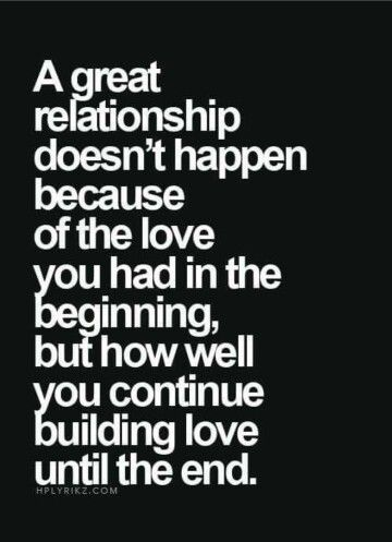 Great relationships...