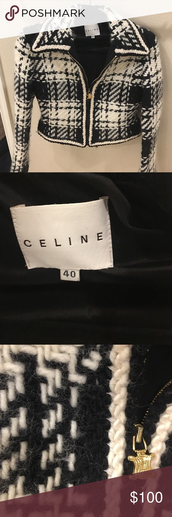 Celine blazer Super cute blazer once owned by... Bernie Madoff's wife😂 seriously, bought it at an auction! Celine Jackets & Coats Blazers