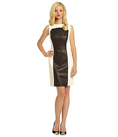 Antonio Melani Stam Colorblock Leather Dress #Dillards