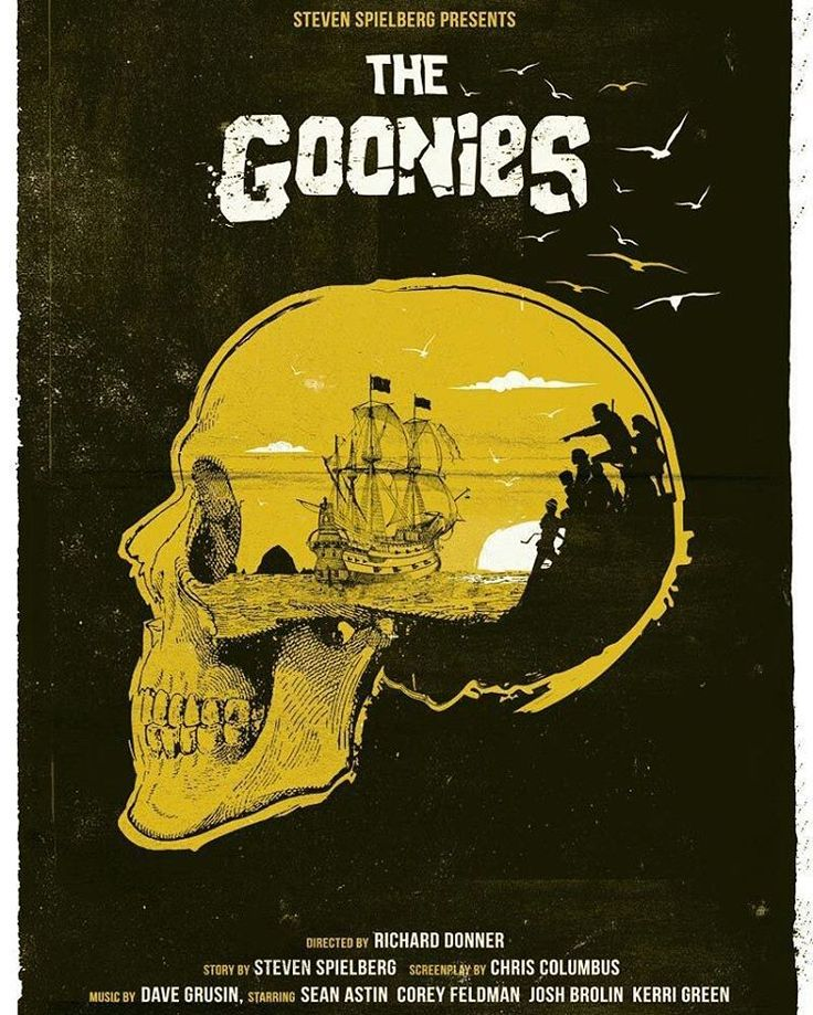 The Goonies by Golden Planet Prints