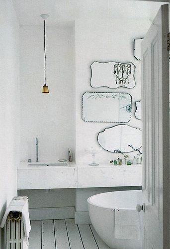 plusieurs miroirs, j'aime!
