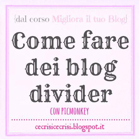 Come Creare dei Divider per il Blog con PicMonkey