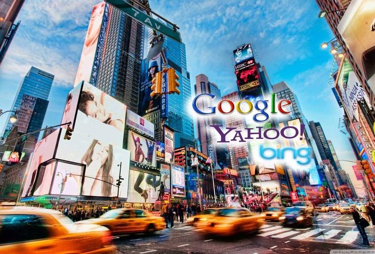 Principaux moteurs de recherche Google,Yahoo,Bing