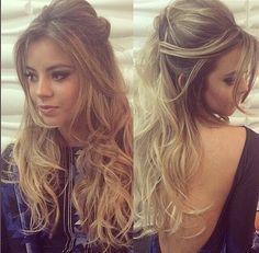penteados soltos com franja