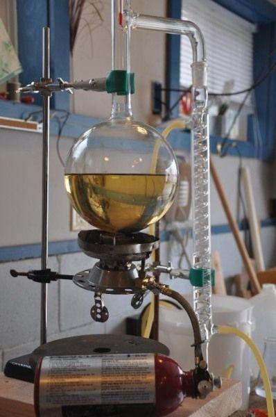 Home Distilling (for essential essences)  http://www.amazon.co.uk/dp/B00VVJGJ2W