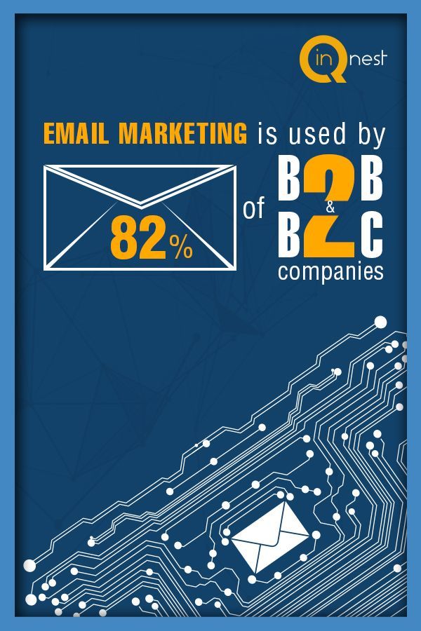 Statistics show that 82% of #B2B and #B2C companies use #email