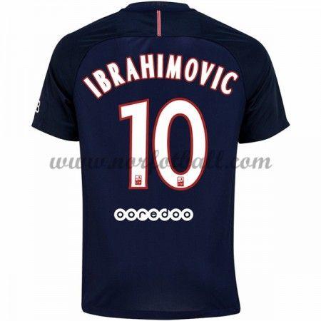 Billige Fotballdrakter Paris Saint Germain Psg 2016-17 Ibrahimovic 10 Hjemme Draktsett Kortermet