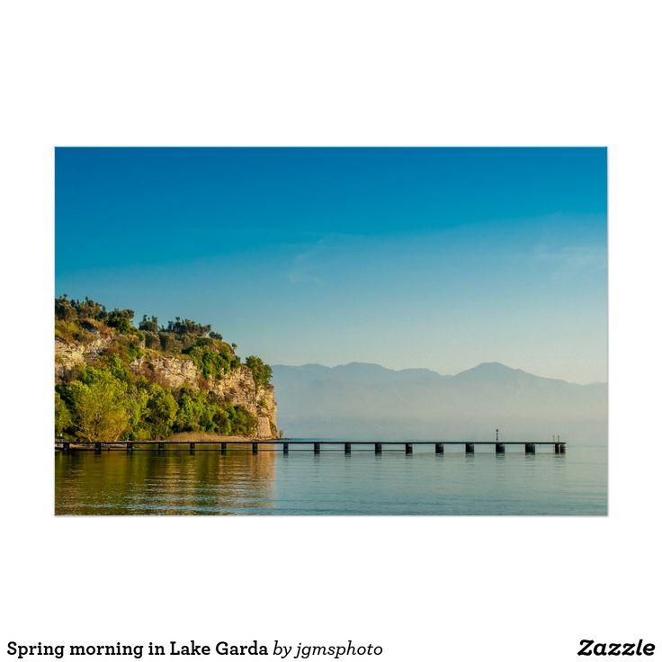 Póster Spring morning in Lake Garda