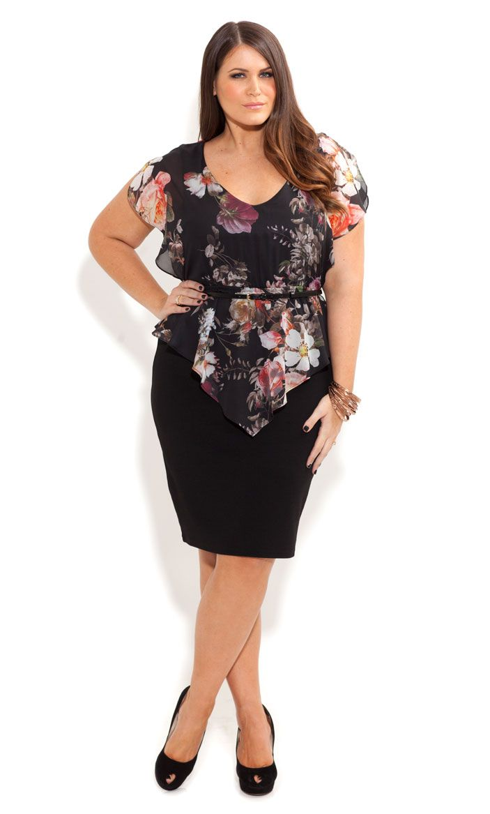 City Chic - ROSE HEAVEN DRESS - Women's plus size fashion Wow beautiful dress !