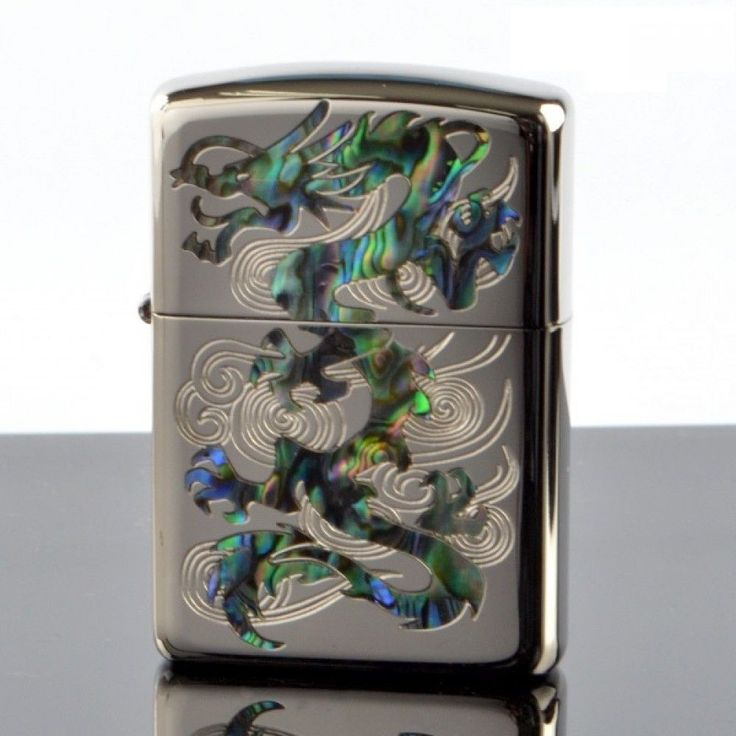 Zippo Lighter Armor SHELL DRAGON Both Sides Etching 162KB-RYSP Japan Model