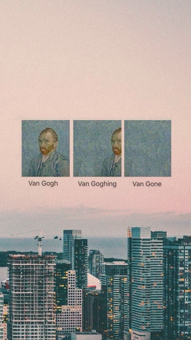 Let's Gogh Aesthetic wallpapers, Tumblr wallpaper, Cute