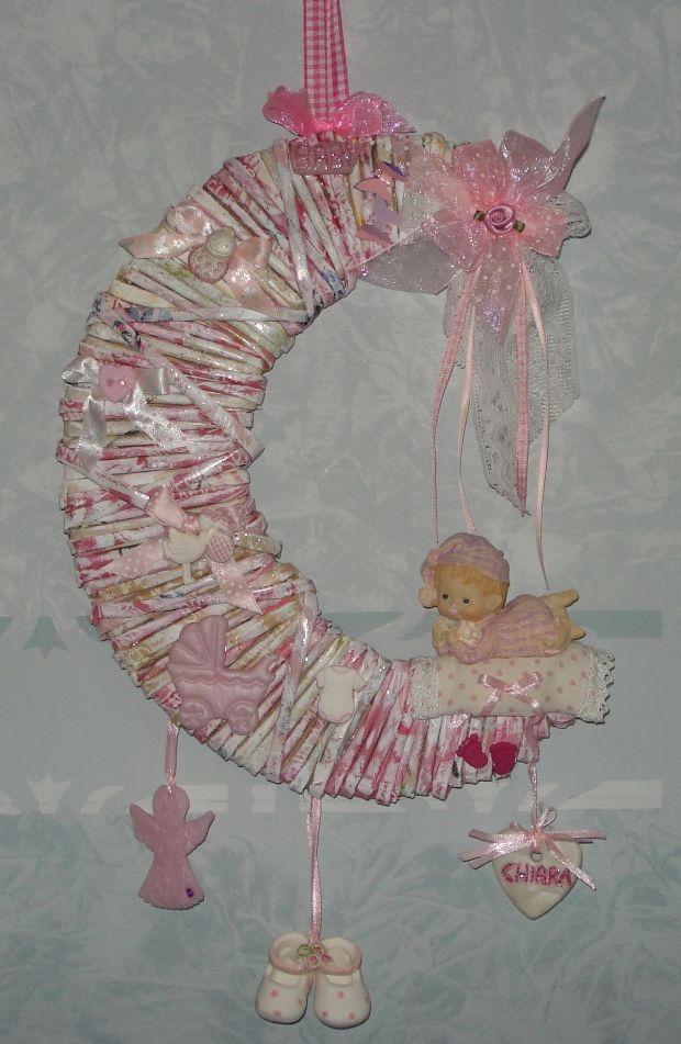 Luna di cannucce di carta per la nascita di Chiara.