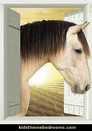 Country girl horse themed bedrooms