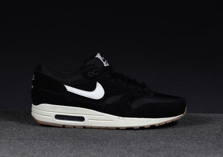 nike air max 1 heren schoenen zwart / wit
